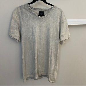 Cohesive & Co. Two Tone T Shirt Cream Gray Medium